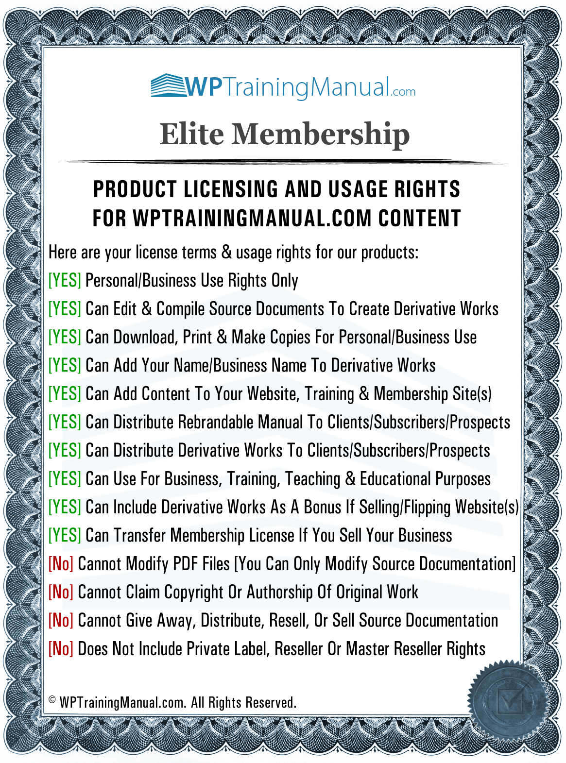 Elite Membership License