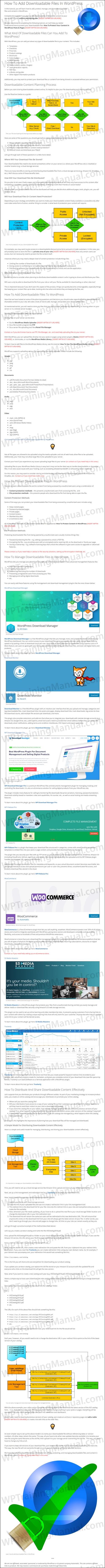 White Label Tutorial: How To Add Downloadable Files In WordPress - WPTrainingManual.com
