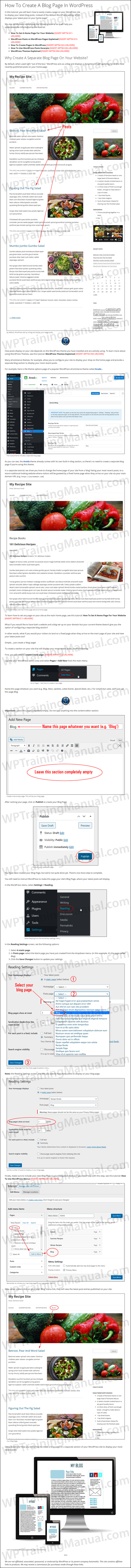 White Label Tutorial: How To Add Blog Page To WordPress - WPTrainingManual.com