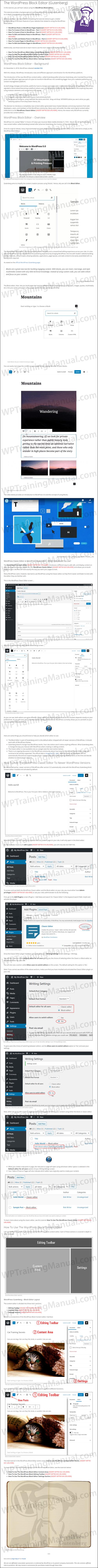White Label Tutorial: The WordPress Block Editor (Gutenberg) - WPTrainingManual.com