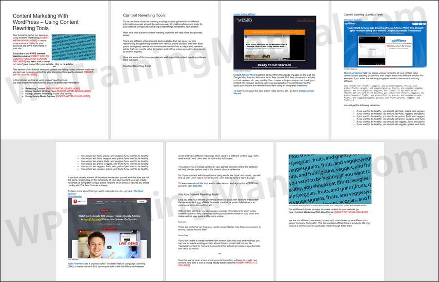 Content Marketing - Rewriting Tools