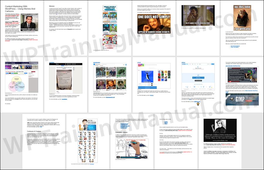 Content Marketing With WordPress - Memes & Cartoons