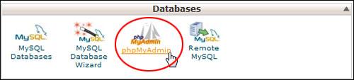 Databases - phpMyAdmin