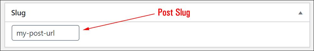 WordPress Post Slug field.