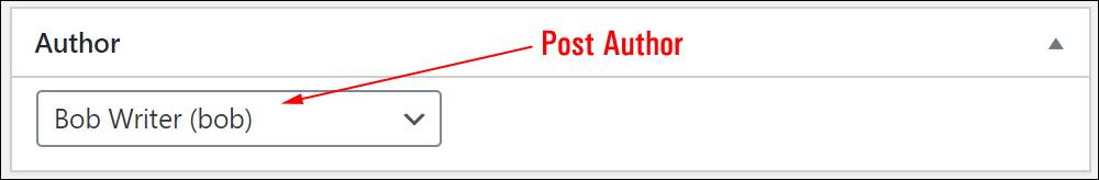 WordPress Post Author field.