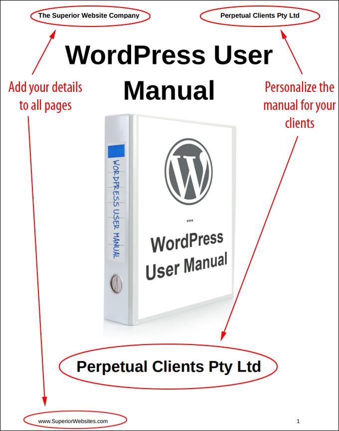 WordPress User Manual - Rebranded home page